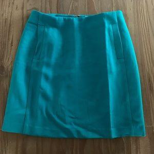 Teal Mini Banana Republic Skirt